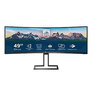 Philips 498P9 - 49 Zoll DQHD Curved Monitor, höhenverstellbar (5120x1440, 70 Hz, HDMI 2.0, DisplayPort, USB Hub) schwarz (B08DP5G1LL) | Amazon price tracker / tracking, Amazon price history charts, Amazon price watches, Amazon price drop alerts