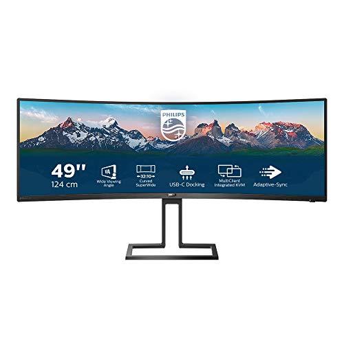 Philips Monitors 498P9/00, 49' Curved 1800R, SuperWide, 70Hz, VA, Adaptive Sync (5120x1440, 450 CD/m, HDMI 2x2.0, Displayport 1x1.4), Negro