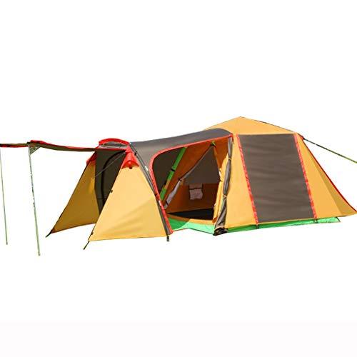 XJH-tienda Tienda Familiar 3-4 Personas Camping Camping una habitación una Sala Anti-tormenta Velocidad automática Parque Abierto Tienda de Picnic (Color : Brown)