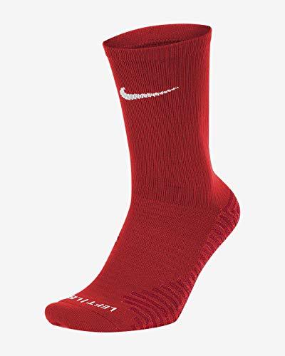 Nike Squad, Calze Sportive Unisex-Adulto, Universita 'Rosso/Bianco, M