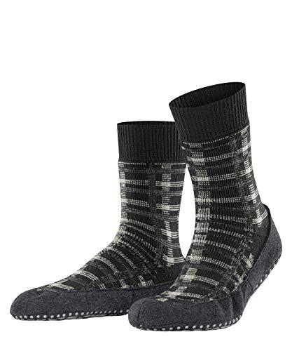 FALKE Herren Cosyshoe Checked M HP Hausschuh-Socken, Grau (Anthracite Melange 3082), 45-46