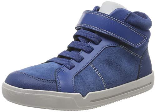Clarks Jungen Emery Beat K_Hohe Sneaker Hohe Sneaker High-Top, Blau (Blue Suede), 34 EU