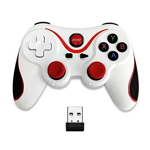 GAOXIAOMEI T3 Bluetooth Wireless Game Controller PC Gamepad Joystick, Dual-Vibration Turbo und Auslösetasten für iOS Android Handy Windows/TV Box/PS3/Tablet,B