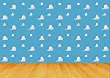 Cartoon Cloud Toy Story Backdrop 7x5ft Kids Birthday Party Boy Baby Shower Photo Background Dessert Table Banner Photo Studio Photography Props YL027
