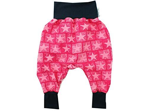 Kleine Könige Pumphose Baby Sweathose Mädchen · Modell Sterne Maddy pink, Marineblau · Ökotex 100 Zertifiziert · Größe 110/116