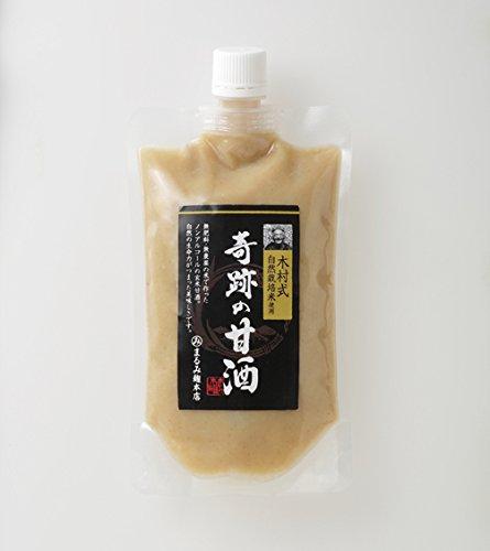【まるみ麹本店】木村式自然栽培 奇跡の甘酒(玄米)300g