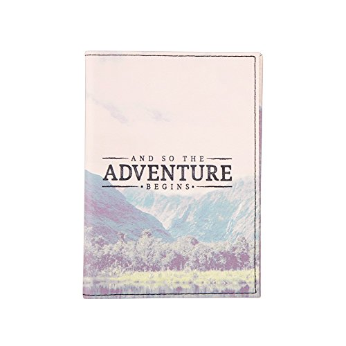 sass and belle wanderlust passport and card holder, and so the adventure begins, faux leather, L10.2 x W1 x H14.7 cm, 18.1g, top 10 gifts for vegan travellers under £10
