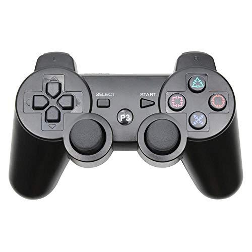 HDHL Mando Tablero de Juego inalámbrico con Controlador Bluetooth paraJoystick de ConsolaPS3paraSony Playstation 3 PC Negro