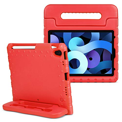 TNP Case for iPad Air 4th Gen 10.9' / iPad Pro 3rd 11' 2018, ShockProof Convertible Handle EVA Kids Friendly Protective Stand Cover Fit for iPad Air 4 Generation 10.9 inch/iPad Pro 11 inch - Red