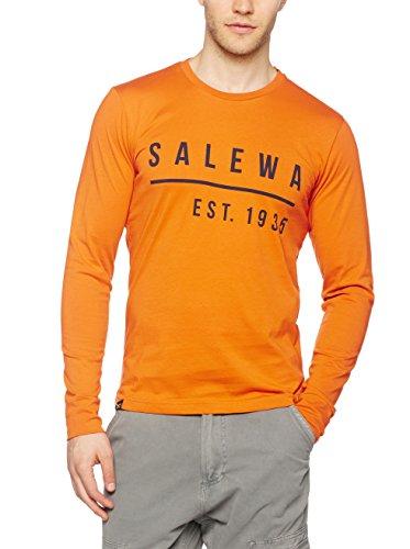 Salewa Binne Co M L/S Tee - T-Shirt à Manches Longues pour Homme, Couleur Orange, Taille 54/2X