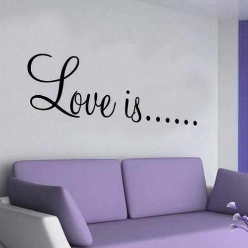 Windsor Designers Sticker Mural – Amour est. Autocollant décoration Murale décoration Murale Chambre Salon Cuisine, Noir, Medium -Size 90cm x 22cm