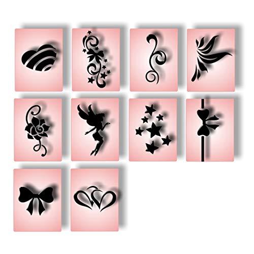 Airbrush Schablonen Nailart Fingernagel Schablone selbstklebend Nail Art für Nägel 120 Einzelmotive