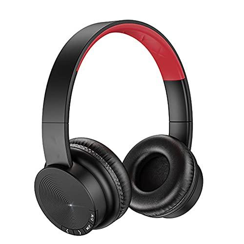 SOONHUA Auriculares Bluetooth sobre el oído, auriculares inalámbricos Bluetooth 5. 0, sonido HiFi graves profundos, auriculares estéreo plegables Apoyo manos libres TF tarjeta de entrada