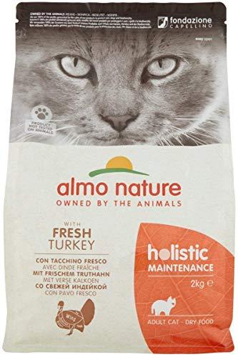 Almo Nature Holistic Maintenance Trockenfutter für Katzen mit frischem Truthahn 2Kg