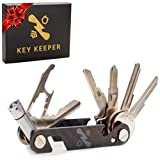 The Original Key Keeper Compact Key Organizer - Made of Carbon Fiber & Stainless Steel - L...