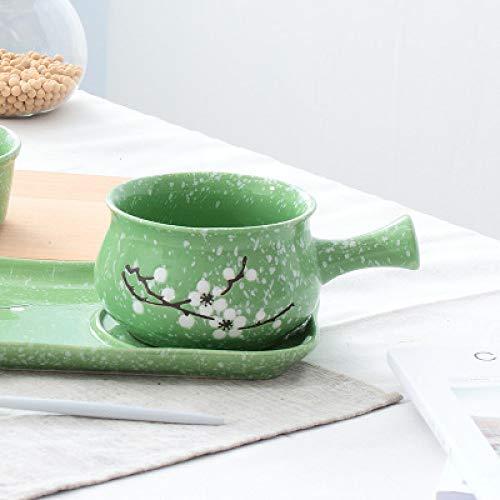 Keramikschale Mit Frühstücksschüssel Schüssel Mit Langem Griff Hochtemperaturschüssel Instant-Nudelschale Nachmittagstee Schüssel Keramikgeschirr