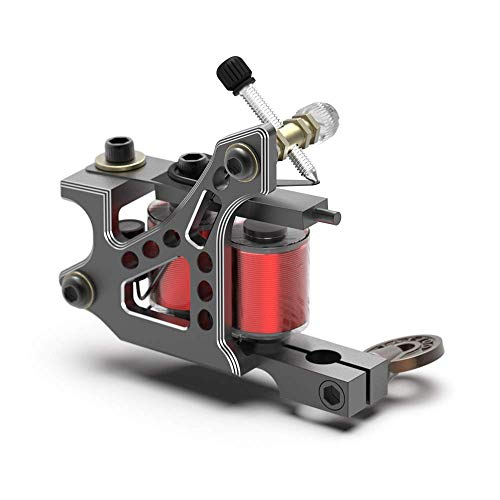 STIGMA Tattoo Machine CNC Carved from Italy Handmade Tattoo Coil Machines Gun 10/12 Wrap Coils for Liner/Shader