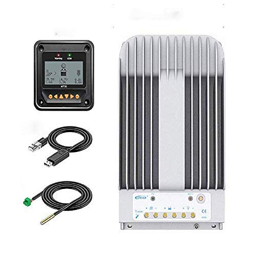 EPEVER 40A MPPT Solar Charge Controller 12/24VDC Automatically Identifying System Voltage with...