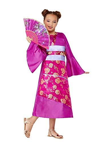 Smiffys Costume Disfraz de Geisha, color morado, S-4-6 Years (71045S)