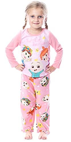 CoComelon Toddler Girls JJ TomTom YoYo Twinkle Twinkle 2 Piece Pajama Set (4T)