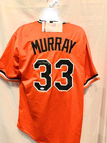 Eddie Murray Baltimore Orioles Signed Autograph Orange Custom Jersey JSA...