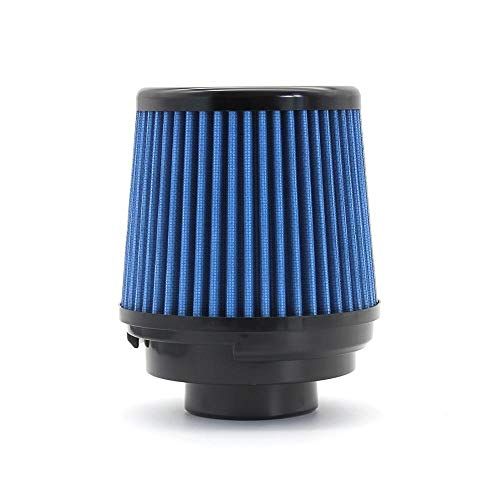 SDUIXCV R-EP Racing Coche Filtro De Admisión De Aire De 3 Pulgadas Filtros Reutilizables De Alto Flujo Universal Ajuste para Rendimiento Ingesta De Aire Frío 76 Mm Lavable (Color : Blue)