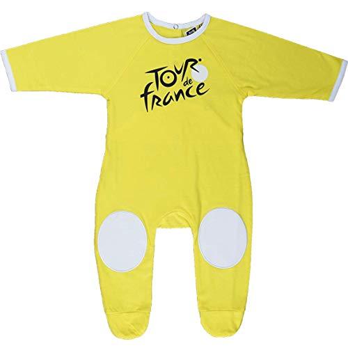 Tour de France 'Pijama Greno uillere Baby Ciclismo Bicicleta–Ropa 2pequeños.–Modelo Camiseta Amarillo