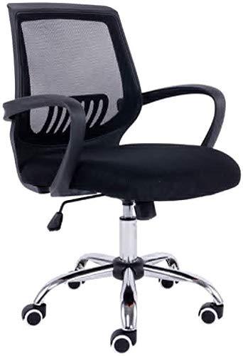 Csd Multi Swivel Snygg Fabric Mesh Kontorsmöbler Excutive skrivbordsstol Nytt Lyft justering / 360 ° Rotation/kontorsstol/dator stol/Study Chair (Color : Black)