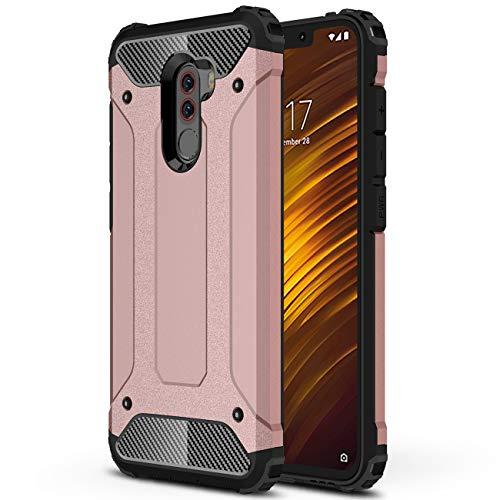 J&H Capa protetora Xiaomi Pocophone F1 Armour, Xiaomi Pocophone F1 capa rígida resistente, capa híbrida de camada dupla à prova de choque para Xiaomi Pocophone F1