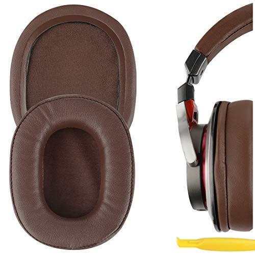 Geekria QuickFit Almohadillas de Repuesto de Cuero con proteína para Auriculares ATH-MSR7 MSR7NC MSR7BK MSR7GM, Piezas de reparación de Almohadillas para Auriculares (marrón)