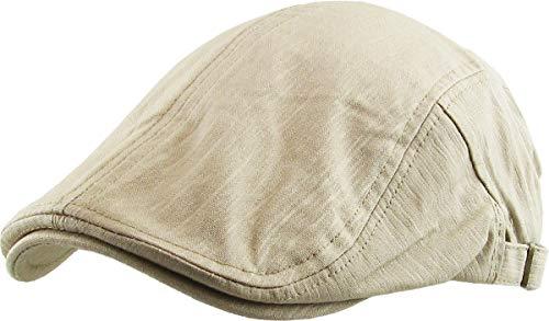 KBM-107 KHK Solid Cotton Denim Newsboy Ivy Cabbie Adjustable Hat Cap