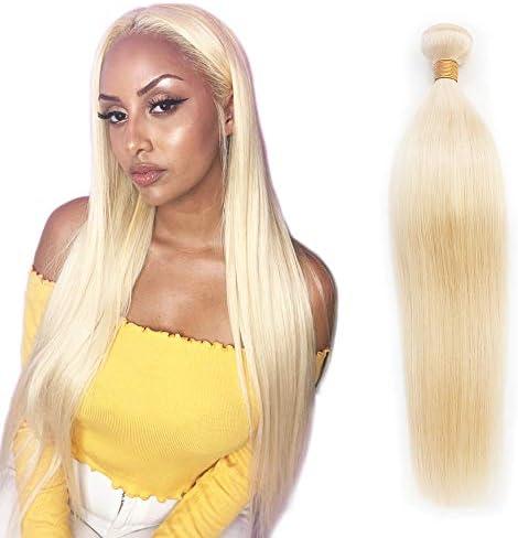 613 Blonde Human Hair Bundles Unprocessed Brazilian Straight Hair Weave Long Virgin Remy Best product image