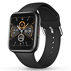 "CatShin Smart watch 1.54"" Full Touch Screen for Women Men Fitness Tracker smartwatch IP68 Waterproof Activity Tracking Heart Rate Monitor Calorie Counter Pedometer Compatible IOS Android Phones(Black)"