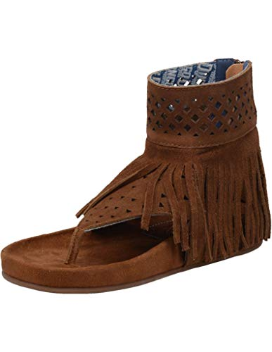 Dingo Womens Heat Wave T-Strap Sandals Sandals Casual - Brown - Size 7.5 B