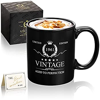 60th Birthday Gifts for Men Women Coffee Mug-1961 60th Birthday Decorations for Men-60th Anniversary Ideas Gifts for Him,Husband,Her ,Wife Dad,Mom ,Grandma,Grandpa-60 Years Gifts-11oz Coffee Mugs