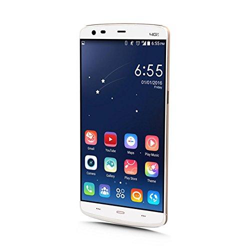 Oxiron X5 Smartphone, Dual Sim, 5,5 Zoll(13,97cm), Touch,Bildschirm,16GB ROM,2GB RAM, Android 4,4, Octa-Core Prozessor, 4 G LTE+,Gestenerkennung
