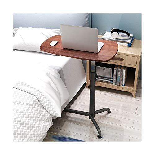 GIAO Mesa para cama con ruedas, altura ajustable y ángulo extraíble, escritorio para ordenador portátil, con ruedas, sofá cama, libros, color rojo nogal.