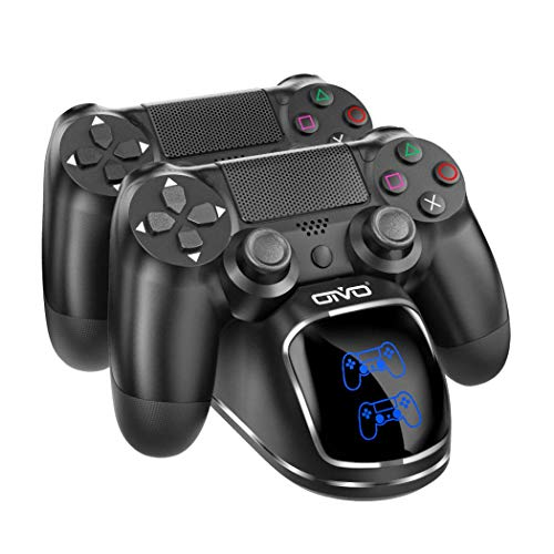 PS4/PS4 Slim/PS4 Pro Controller Charger Dock Station, OIVO PS4 Dual Shock 4 Charging Docking Station for Sony Playstation 4 Controller- 1.8hours Fast Charger with Updated Copper Sheet