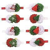 XKJFZ Regalo Navidad arquea Las Vendas de Navidad 5PCS niña de Tacto Suave Hairband del Bowknot del Pelo del Tocado Floral Lindo para el Regalo del niño Infante recién Nacido para la Mujer