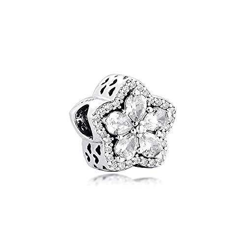 Pandora 925 Sterling Silver DIY Jewelry CharmShiny Pulsera con cuentas de metal para joyería Charsy
