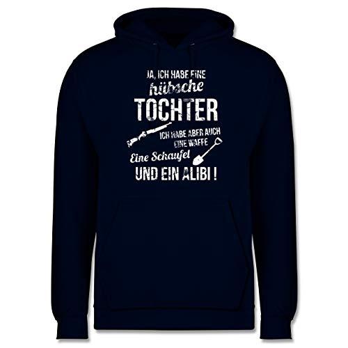 Shirtracer Vatertagsgeschenk - Ich Habe eine hübsche Tochter - 5XL - Navy Blau - Papa Tochter - JH001 - Herren Hoodie und Kapuzenpullover für Männer