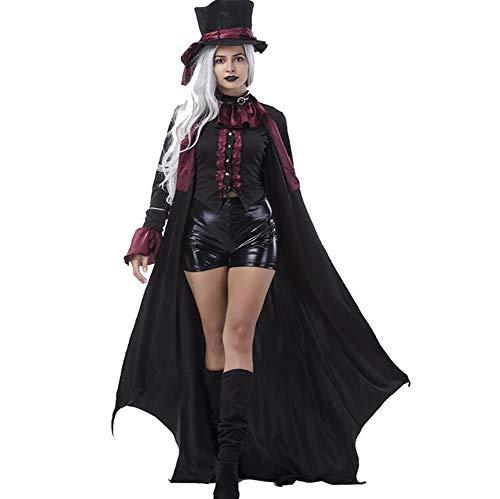 SHANGXIAN Adulto Costumi Vampire Donne Uomini Festa Di Halloween Vampiro Coppia Cosplay Vestito Elegante Vestiti,Women,XL