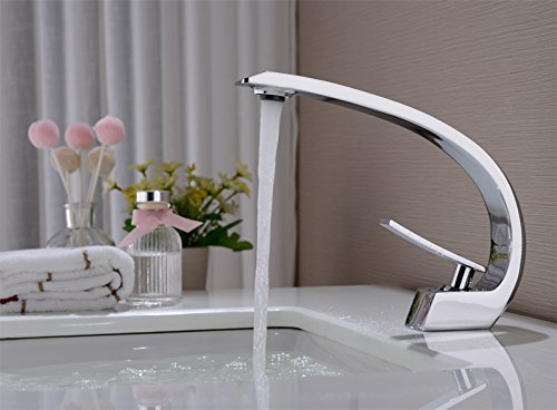 Wasserhahn Waschtischarmatur Badarmatur-Waschtischarmatur Badezimmerarmatur Messing Chrom OM6007