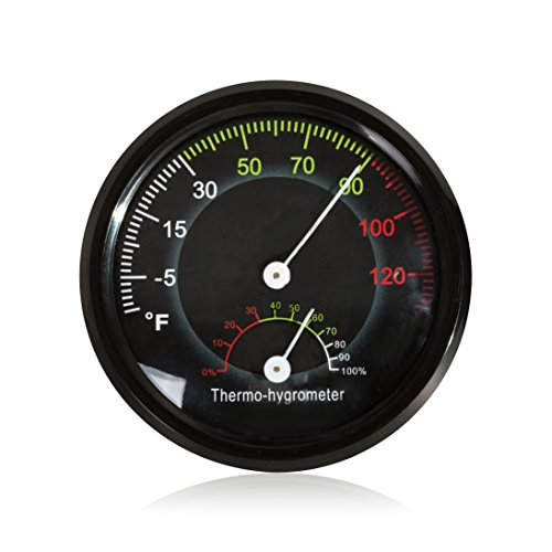 Price comparison product image REPTI ZOO Reptile Terrarium Thermometer Hygrometer Dual Gauges Pet Rearing Box Reptile Thermometer and Humidity Gauge