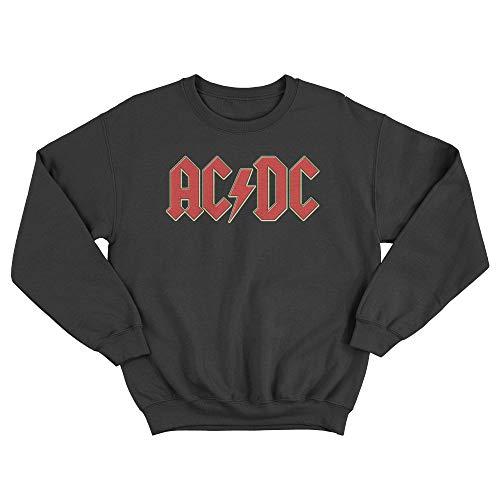LaMAGLIERIA Unisex-Sweatshirt ACDC 3D Logo - Set-In Sweatshirt, L, Schwarz
