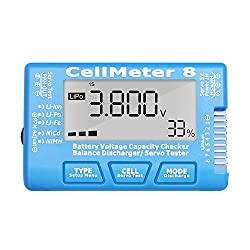 RC Cellmeter 8 Digital Battery Capacity Checker Controller Tester Voltage Tester for LiPo Life Li-ion NiMH Nicd Cell Meter (8 in 1 cellmeter)