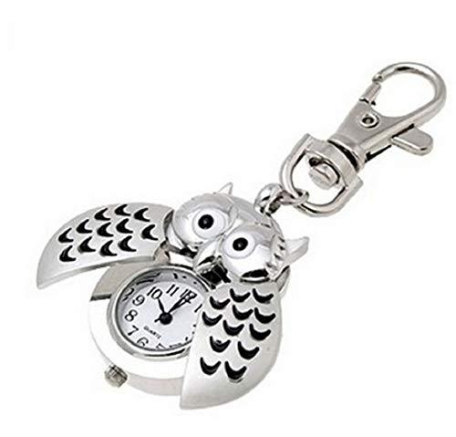 Eule Uhr Schlüsselanhänger Figur zum aufklappen | Anhängeruhr | Watch | Geschenk für Frauen | Vogel | Uhu