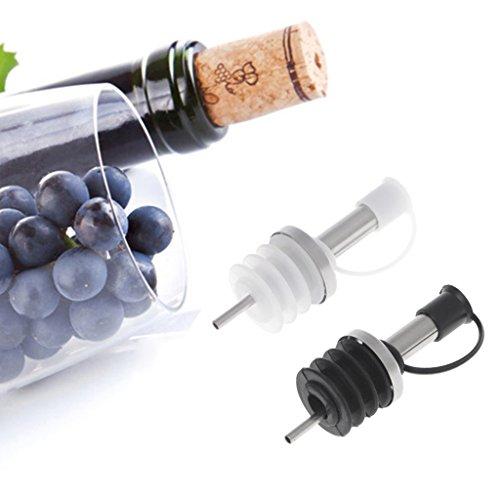 LyGuy roestvrijstalen gieter, roestvrijstalen oliefles tuit gieter/mond met stop fles droog zwart