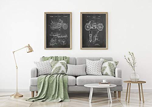 Motorfiets Prints Set van 2 Motorfiets Posters Motorfiets Prints Motorfiets Poster Biker Wall Art Biker Poster Biker Gift Motorbike WB303WB305