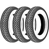 Kit de 3 neumáticos para Piaggio Vespa Rally 180 200, banda blanca 3,50 – 10, vintage